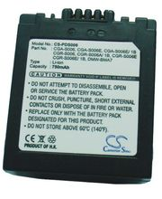 Batéria náhradná (ekv. CGR-S006) pre Panasonic Lumix DMC-FZ7, FZ30, Li-ion 7,4V 750mAh