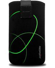 Fixed pouzdro Velvet s motivem Stripe Green, velikost 4XL, černá
