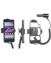 Brodit držák do auta na Sony Xperia Z1 bez pouzdra, s nabíjením z cig. zapalovače